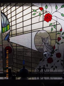 Glas in Lood raam.