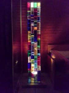 Staande Lamp Glas-in-Lood